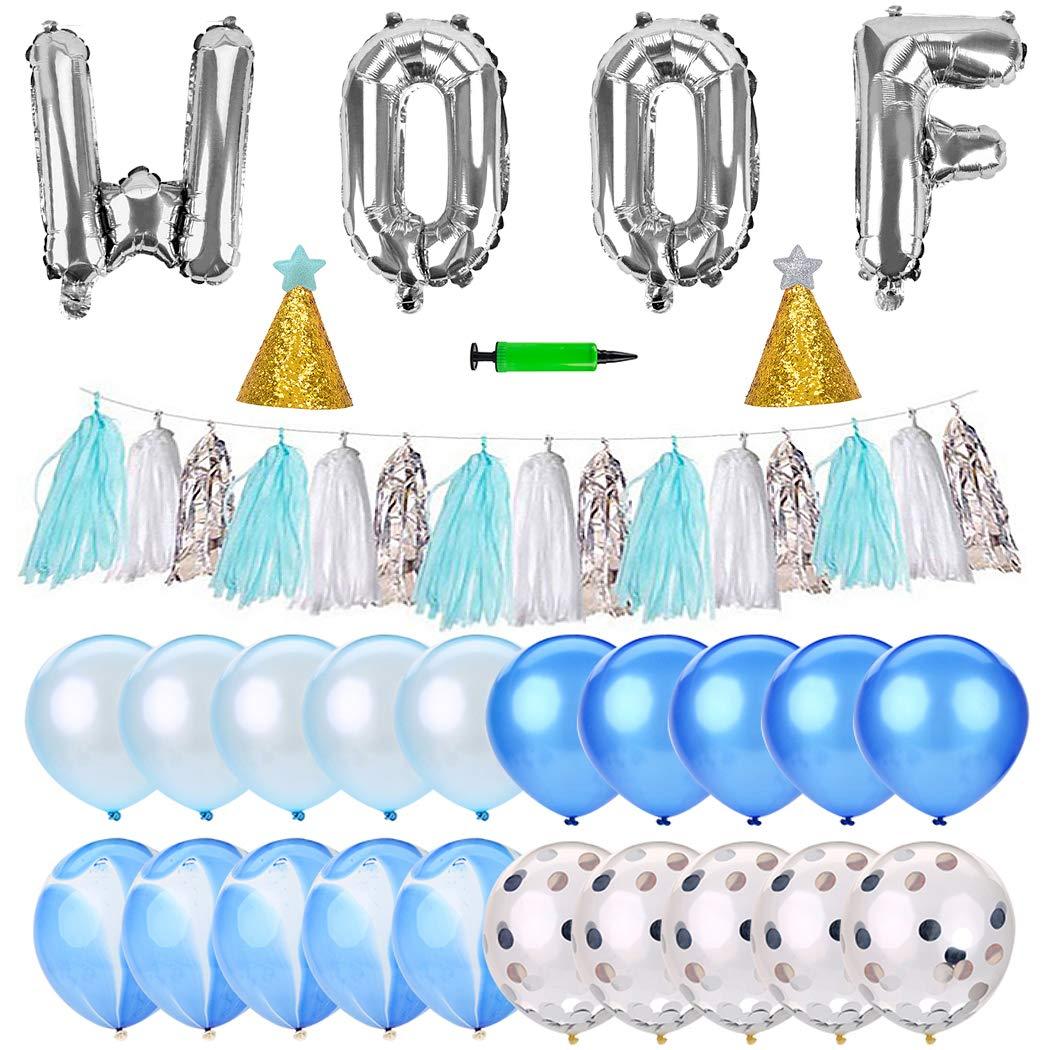 Legendog Premium Dog Cat Birthday Party Supplies with Dog Birthday Hat, Dog Girl or Boy Birthday Party Decorations, Woof Balloons Happy Pet Birthday Party Kit