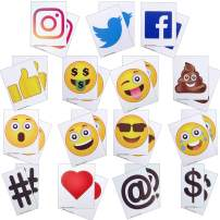 KitAbility Get More Social 5 Inch Set for Large White Message Board Sidewalk Signs, Includes Additional Emoji, Social Media Symbols, and More