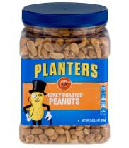 PLANTERS Honey Roasted Peanuts, 34.5 oz. Resealable Jar - Premium Quality Peanuts - Sweet and Salty Snack - Sweet Peanut Snack - Wholesome Snacking - Kosher