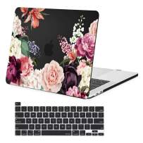 MacBook Pro 16 inch Case 2019 Release A2141, Plastic Hard Shell Case with Keyboard Cover for MacBook pro 16 inch, Skin for New 16 inch MacBook Pro Case, Black Rose Flower