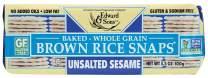 Brown Rice Snaps, No Salt Sesame, 3.5-Ounce Packs (Pack of 12)