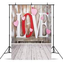 Dudaacvt 5x7ft Valentine's Day Backdrop Rustic Wood Floor Mother's Day Backdrops Wood Wall Photography Backdrops Love Photo Background Baby Happy Birthday Studio Backdrop Seamless 114