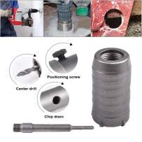 HOHXEN 40mm SDS Plus Shank Hole Saw Cutter Concrete Cement Stone Wall Drill Bit