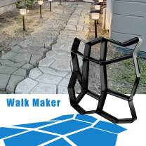"CJGQ 13.4""x13.4""x1.42"" Walk Maker Reusable Concrete Path Maker Molds Stepping Stone Paver Lawn Patio Yard Garden DIY Walkway Pavement Paving Moulds (Irregular)"