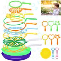 B bangcool Bubble Wands Set - Big Bubbles Wand Funny Bubbles Maker, Nice for Outdoor Playtime & Birthday Party & Games, Suitable for All Age People (20 PCS)