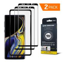 GPEL Screen Protector for Galaxy Note 9 Premium Japanese Asahi Tempered Glass with Easy Installation, Case-Friendly, HD Clarity, Real Tempered Glass, 9H Hardness [2-Pack]