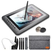 """Parblo Mast10 10.1"""" Graphic Drawing Monitor with 6 Shortcut Keys and Battery-Free Pen Passive Stylus + Mini DisplayPort to HDMI Adapter for Mac"""