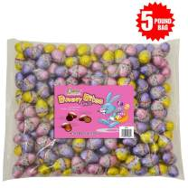 R.M. Palmer Bunny Bites Easter Eggs|Assortment Of Chocolaty Filled Treats | Peanut Butter |Caramel | Fudge | Individually Wrapped | Fun Sized Easter Candies |Perfect For Gift Baskets | Bulk Bag(5 lbs)