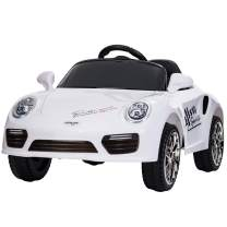 Uenjoy Kids Electric Ride on Cars 6v Battery Power Motorized Vehicles, Remote Control, Suspension, Music, Headlights, Horn, White