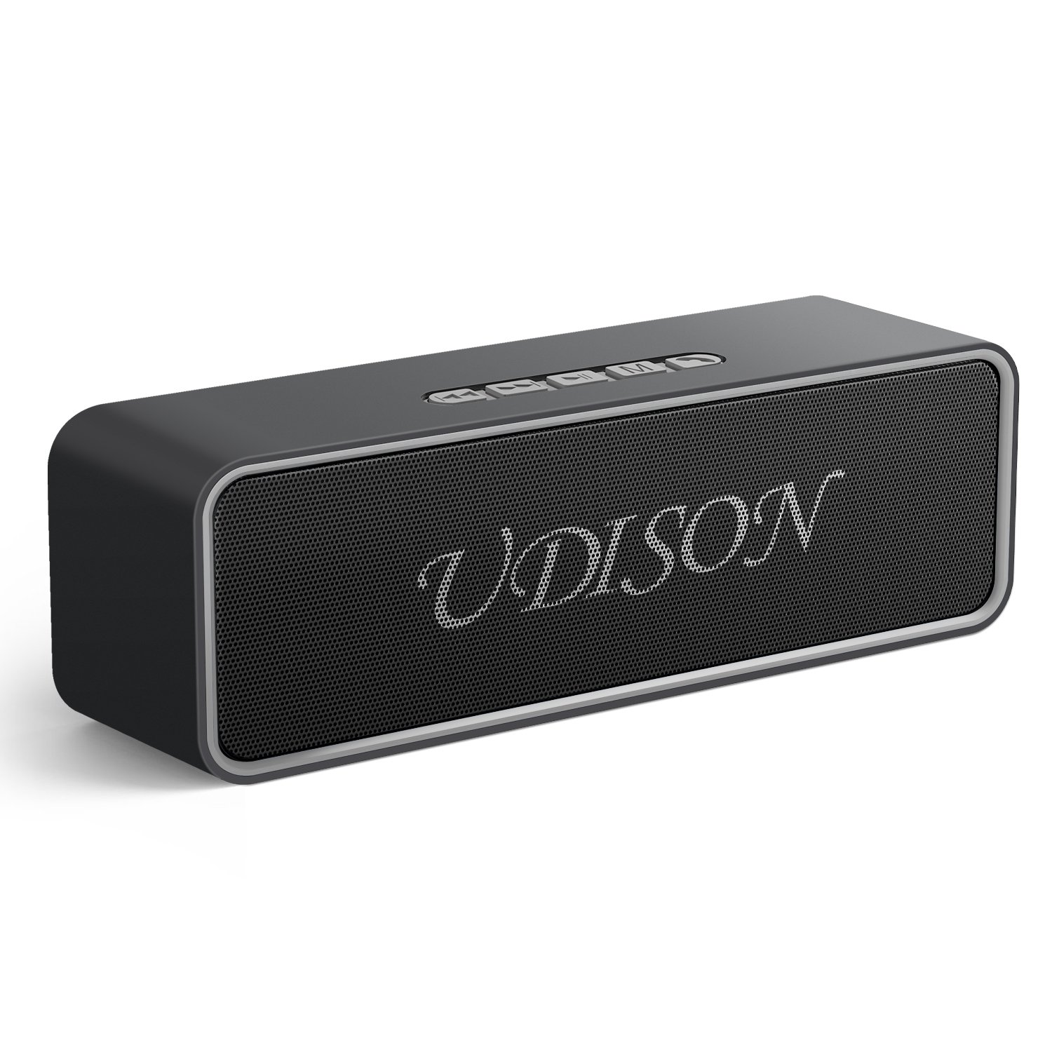 UDISON Wireless Bluetooth 5.0 Speakers, Outdoor Portable Stereo Speaker with 10W Rich Bass,164-328 ft,12-Hour Playtime,Built-in Mic Handsfree, USB Port &TF Card Slot
