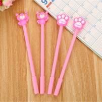 WIN-MARKET Animal Pink Panther Gel Ink Pen Cute Kawaii Black Writing Pens Ballpoint Black Ink Gel Pen Party Gift Gel Ink Pens Funny School Stationery Office Supplies(6PCS)