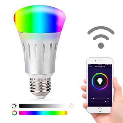 Smart LED Light Bulb RGB WiFi Household Mini Lamp Voice Control For Alexa Google