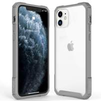 OTOFLY Crystal Clear iPhone 11 Case, Hard Plastic PC Ultra-Thin Phone Cover with Full-Body Protective Bumper Case Compatible with iPhone 11 (6.1 Inch), Gray