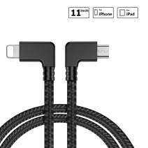 iEago RC Micro USB to iOS Data Cable 11.41inch Nylon Braided Right Angle Connector OTG Cord for DJI Mavic Pro/Spark/Mavic Air/Mavic 2 Pro & Zoom/Mini Accessories.