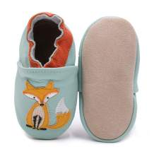 Bebila Leather Cartoon Baby Moccasins - Cute Suede Soft Sole Toddler Shoes Boys Girls First Walker Non-Slip Shoes Infant for Newborns,Crawling Slippers