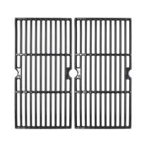 """Hongso 18 3/16"""" Polished Porcelain Coated Cast Iron Gas Grill Cooking Grates for Charbroil Model 463675517, Enamel Coating Grill Grids 2-Pack, PCZ162"""