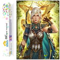 Dylan's Cabin DIY 5D Diamond Painting Kits for Adults,Full Drill Embroidery Paint with Diamond for Home Wall Decor(war goddess/12x16inch)