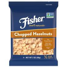 FISHER Chef's Naturals Chopped Hazelnuts, 2 oz (Pack of 12), Naturally Gluten Free, No Preservatives, Non-GMO