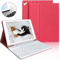 """iPad Keyboard Case 9.7 for iPad 2018 6th Gen iPad Pro 9.7"""" 2017 5th Gen iPad Air 2/Air 1-Wireless Bluetooth Keyboard- Multiple Angle Stand Honeycomb Cover with Pencil Holder (Red)"""