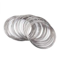 Pandahall 1Unit Steel Memory Wire Beading Wire Cuff Bangle Bracelet DIY Jewelry Making Platinum Color 65mm 100circles/unit
