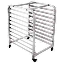 "BestEquip Bun Pan Rack Bakery Rack 10-Tier Bakery Cooling Rack 26"" L x 20.3"" W x 38.2"" H Aluminum for Commercial Restaurant & Bakery & Cafeteria & Home Use"