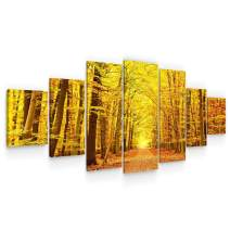 Startonight Huge Canvas Wall Art - Autumn Forest Large Framed Set of 7 40 x 95 Inches