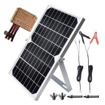 TP-solar 10W 12V Solar Panel Trickle Charger Battery Maintainer Kits + 10A Waterproof Solar Charge Controller + Adjustable Mount Tilt Rack Bracket + Solar Cable for Car RV Marine Boat Off Grid System