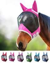 Harrison Howard CareMaster Pro Luminous Horse Fly Mask Standard with Ears