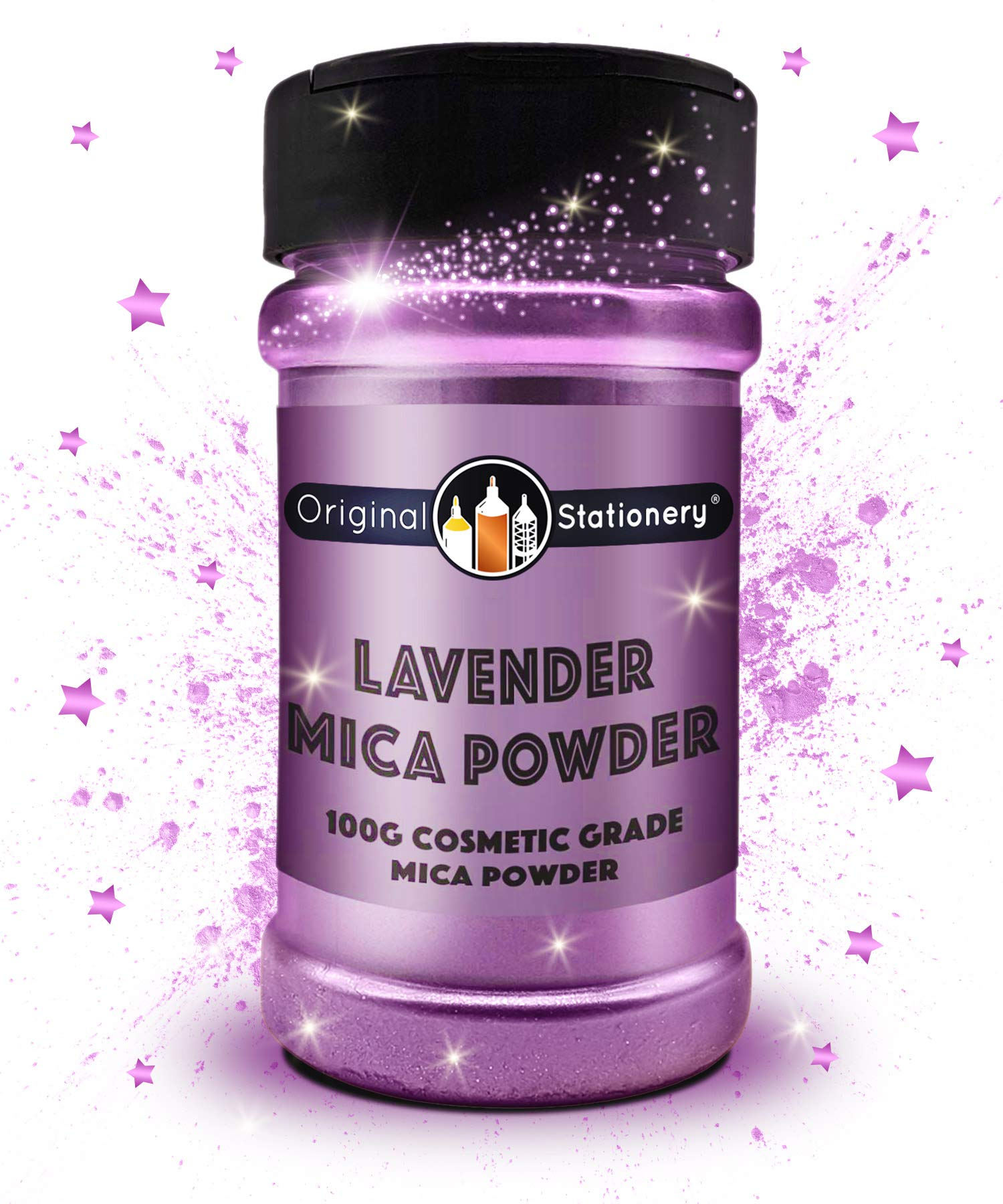 Mica Powder - 3.5 ounces / 100 grams [HUGE x3-5 THE SIZE OF OUR COMPETITORS] Cosmetic Grade – True Colors – Beautiful Mica for Slime, Soap, Bath Bombs, Make-up, Nails, Decor (Lavender)