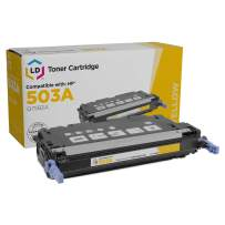 LD Remanufactured Toner Cartridge Replacement for HP 503A Q7582A (Yellow)