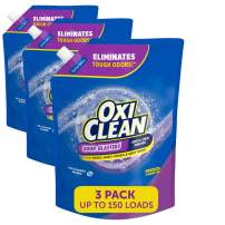 OxiClean Odor Blasters Odor & Stain Remover Laundry Booster Easy-Pour Pouch, Pack of Three 50oz Pouches