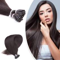 """Neitsi 20"""" 1g/s 25s/lot Fusion Glue Off Black I Tip/Stick Remy Human Hair Extensions (1B#)"""