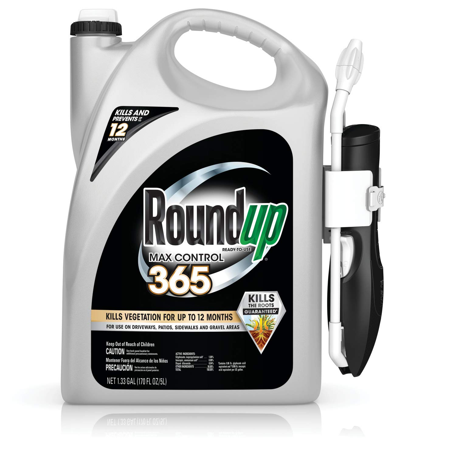 Roundup Ready-To-Use Max Control 365 with Comfort Wand, 1.33 gal.
