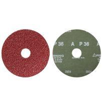 "Mercer Industries 317036 36 Grit Aluminum Oxide Resin Fiber Discs (5 Pack), 5 x 7/8"""