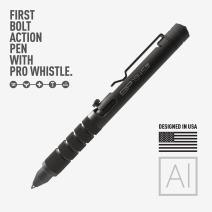 GP 1945 Bolt Action Pen PRO -Machined Titanium/Aluminum, Multi-Tone Whistle, Breaker Integrated. USA.