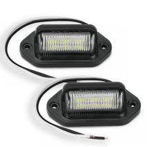 LED License Plate Light 2 x 6 SMD 12V License Tag Light Convenience Courtesy Door Step Lights, Dome/Cargo Lights or Under Hood Lights