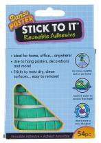 Darice 97021 54 Piece Stick to it Removable Adhesive for Posters