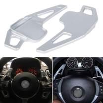 Steering Wheel Shift Paddle Shifter Transfer Aluminum Alloy Extension Blades Interior Trim Cover for BMW 2 3 4 X1 X2 X3 X4 X5 X6 series, F22 F23 F30 F31 F33 F34 F36 F32 F15 F16 F25 F26 F48 F39