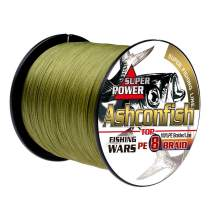 Ashconfish Braided Fishing Line-8 Strands Super Strong Fishing Wire 300M/328Yards-Abrasion Resistant Braided Lines-Incredible Superline-Zero Stretch-Superfine Diameter