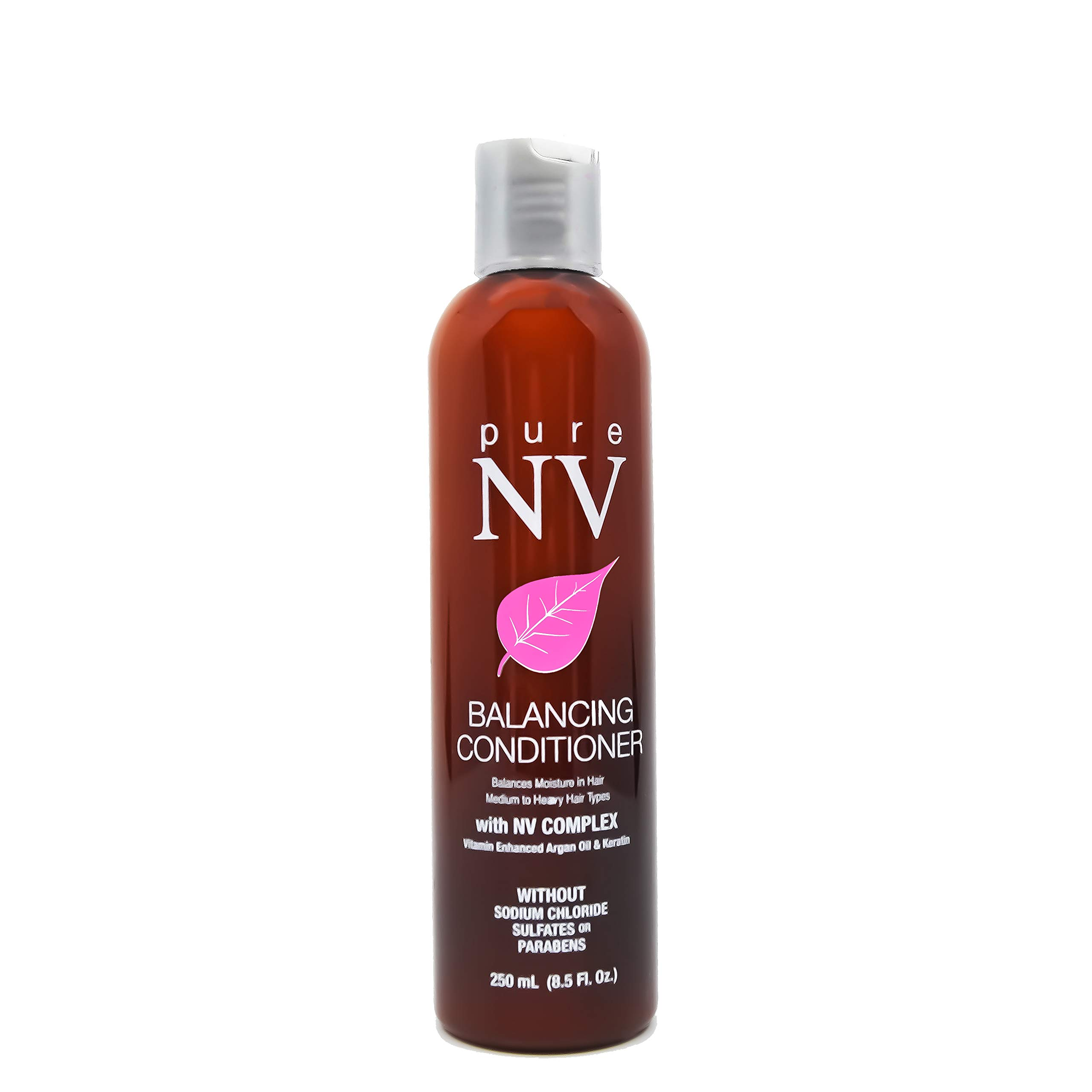 Pure NV Balancing Conditioner: Infused with Argan Oil, Keratin, Collagen, Natural Vitamins, and Lavender for Smoother, More Manageable Hair- Sulfate & Sodium Chloride Free (8.5 Oz Bottle)