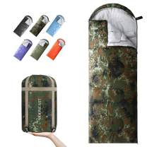 MOONCAST Backpacking Sleeping Bag - Warm & Cold Weather, Use for 4 Seasons - Lightweight, Portable, Waterproof - Use for Kids, Teens & Adults for Hiking and Camping
