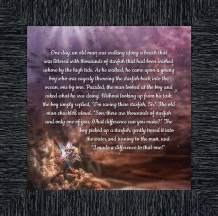 Crossroads Home Décor The Starfish Story, Legend of The Starfish, Thank You or Appreciation Gift for Your Pastor or Teacher, You Can Make a Difference Poem, 10x10 8691CH