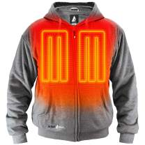 ActionHeat Battery Heated Hoodie – Unisex, Rechargeable 5V Heating Hoodie with Single Touch Operation, Tri-Zone Heating System