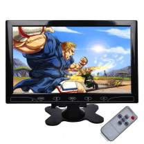 TOGUARD Security Monitor 10.1 inch Portable Monitor CCTV Ultrathin HD 1024x600 TFT LCD Color Computer Display Screen with HDMI VGA AV Input, Built-in Speaker, Touch Keys, Remote Control for Raspberry
