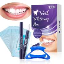 Teeth Whitening Pen (2 Pack), Safe and Effective Teeth Whitening Gel for Teeth Whitening, Painless & No Sensitivity, with 1Mouth Opener, 15Teeth Wiper