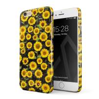 BURGA Phone Case Compatible with iPhone 6 / 6s - Yellow Sunflowers Vinatge Flowers Floral Print Pattern Fashion Designer Cute Case for Women Thin Design Durable Hard Plastic Protective Case
