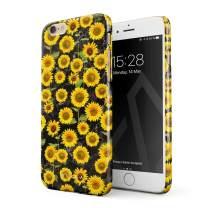BURGA Phone Case Compatible with iPhone 6 Plus / 6s Plus - Yellow Sunflowers Vinatge Flowers Floral Print Pattern Fashion Designer Cute Case for Women Thin Design Durable Hard Plastic Protective Case