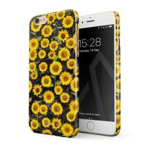 BURGA Phone Case Compatible with iPhone 6 Plus / 6s Plus - Yellow Sunflowers Vinatge Flowers Floral Print Pattern Fashion Designer Cute Case for Women Thin Design Durable Hard Plastic Protective Case