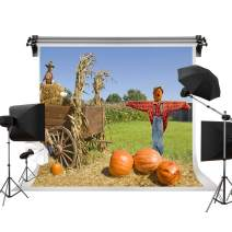 Kate 7x5ft/2.2m(W) x1.5m(H) Thanksgiving Backdrop Scarecrows Pumpkin Farm Backgrounds Rustic Harvest Video Photography Backgrounds Props