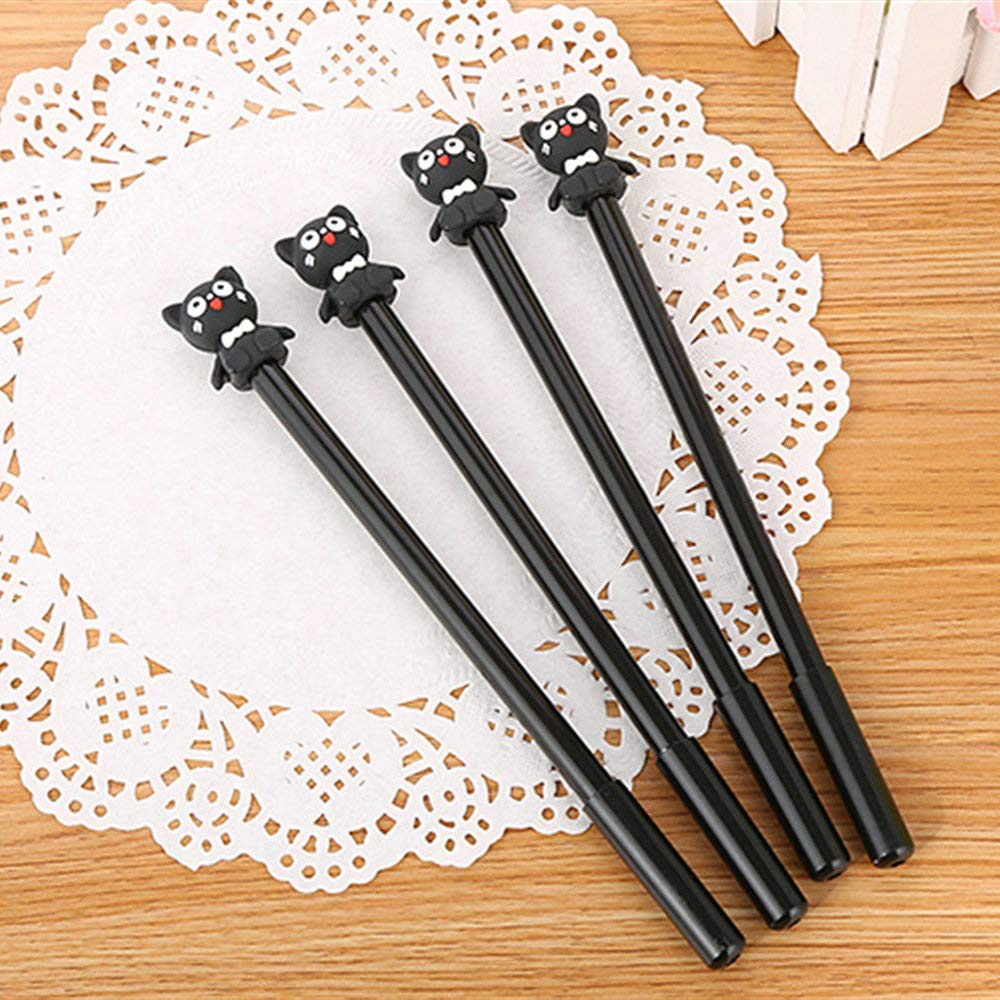 WIN-MARKET Animal Adorkable Bear Gel Ink Pen Cute Kawaii Black Writing Pens Ballpoint Black Ink Gel Pen Party Gift Gel Ink Pens Funny School Stationery Office Supplies(6PCS)